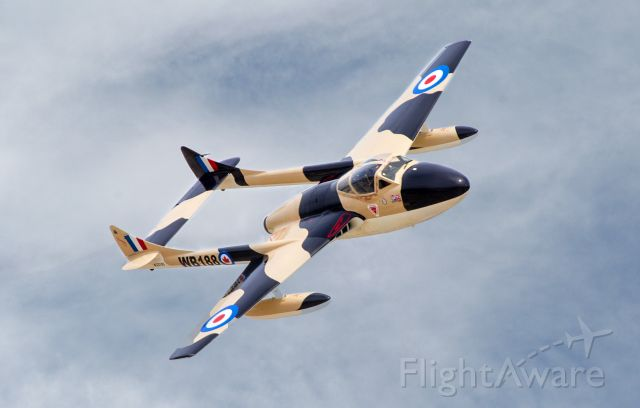 F+W EMMEN Vampire (N23105) - 1959 De Havilland (F+W Emmen) Vampire T55 (DH-115) C/N 982br /WB188