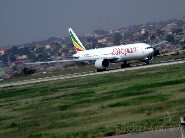 BOEING 777-300ER (ET-APY) - ROLLING RWY 23 DESTINATION ADDIS