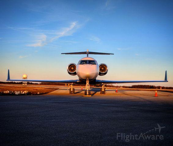 Gulfstream Aerospace Gulfstream IV (N396U) - The shadows creep in on a Gulfstream IV - London Ontario Canada