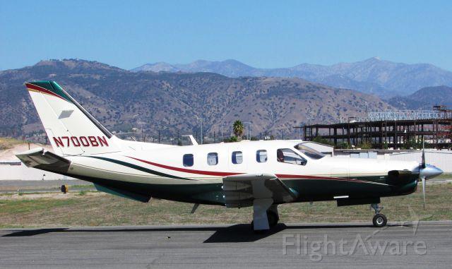 Socata TBM-700 (N700BN) - Taxiing at Brackett Field.