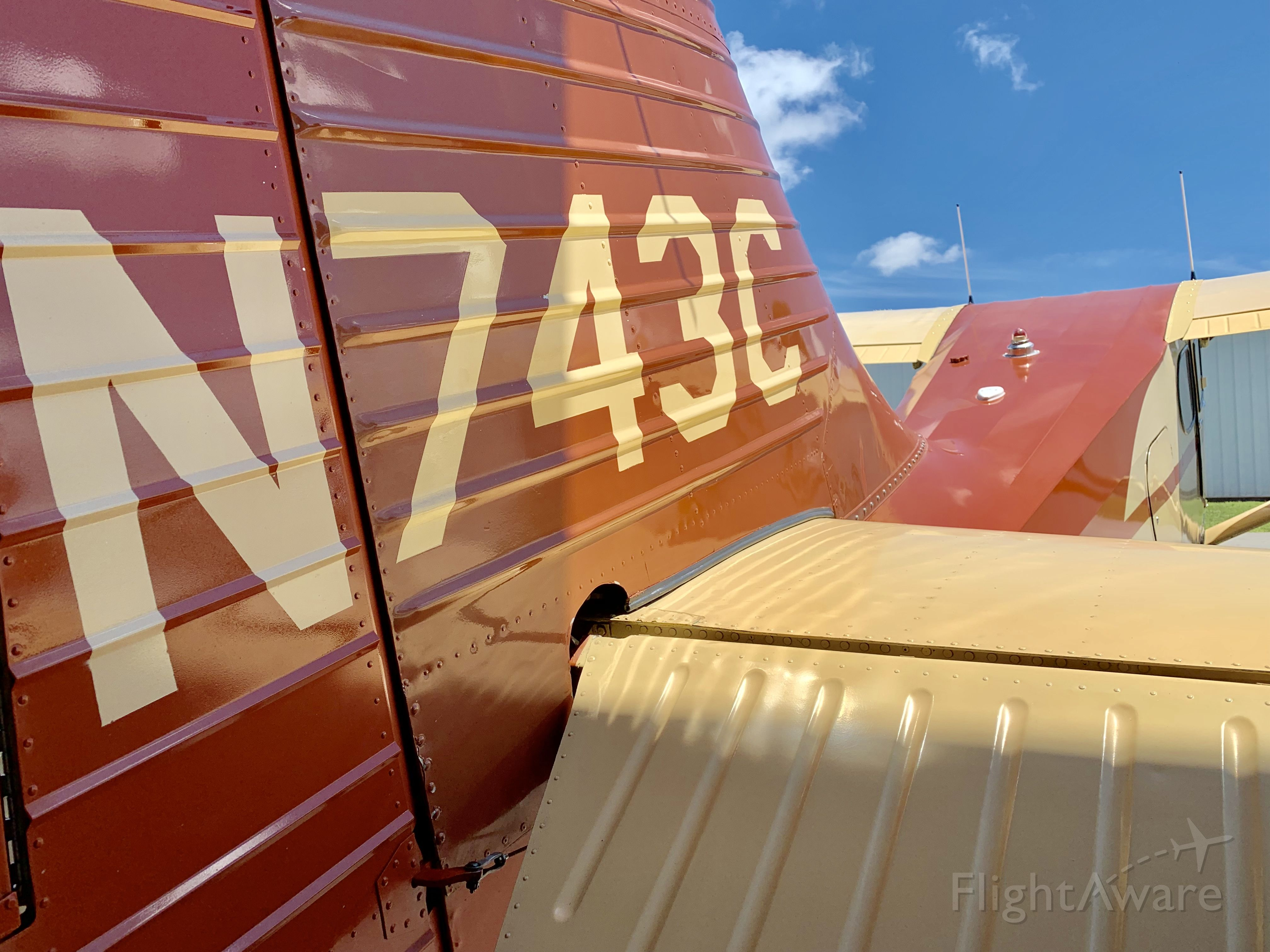 Piper 108 Voyager (N743C) - Vintage paint scheme on this 1947 Stinson