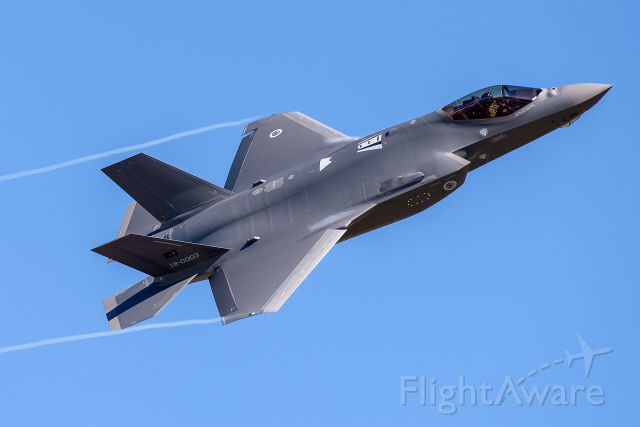 Lockheed F-35C (18-0003) - The 3rd F-35A of the Turkish Air Force seen performing the option at NAS Fort Worth JRB.