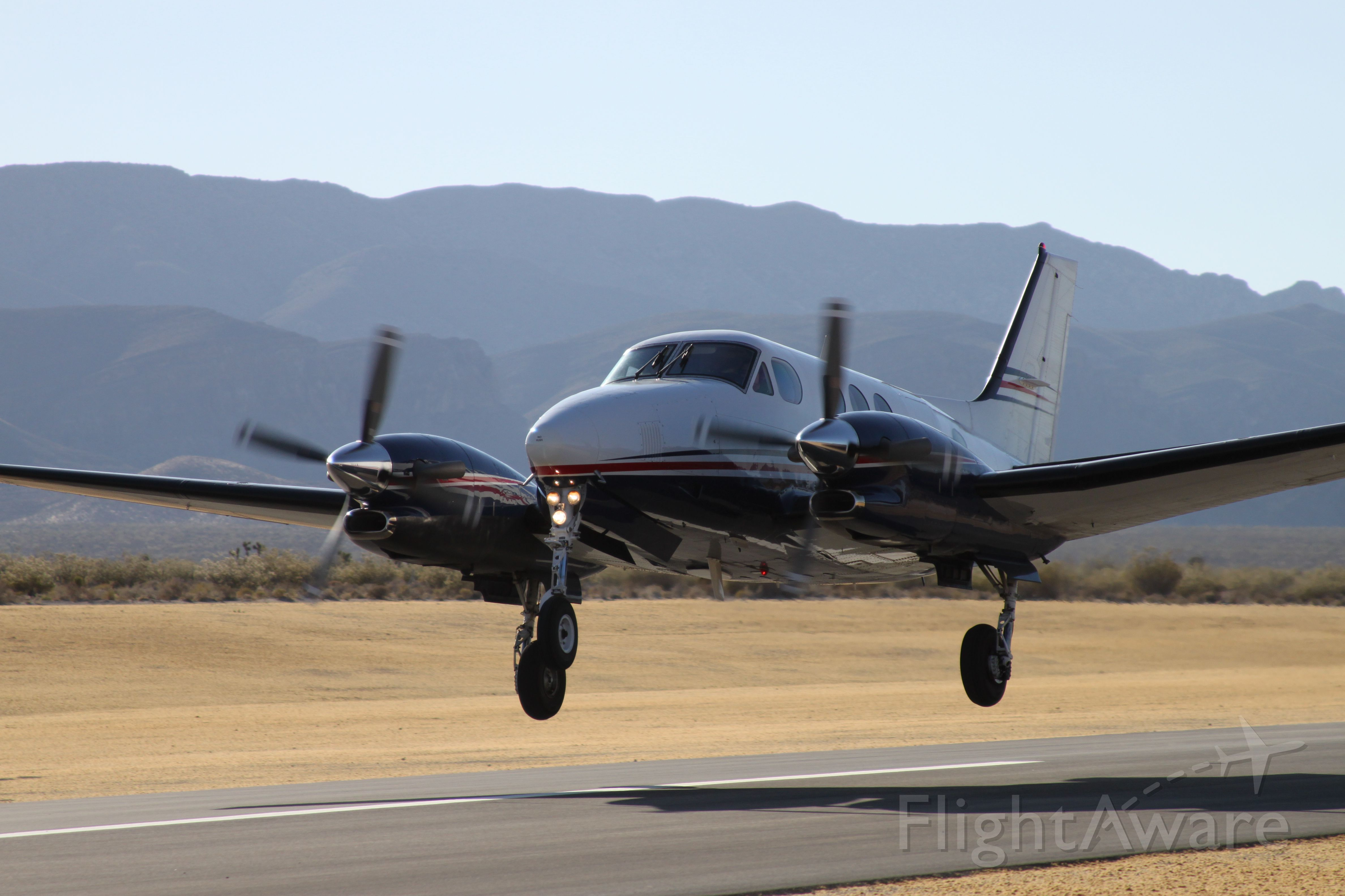 Beechcraft King Air 90 (N335AP) - Freshly paved runway - airport manager said we were probably the 6th aircraft to use it