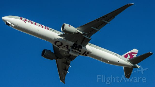BOEING 777-300ER (A7-BEE) - Delivery Flight