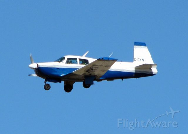 Mooney M-20 (C-GKNT) - Landing on runway 23 at the Shreveport Regional Airport. A long way from home!