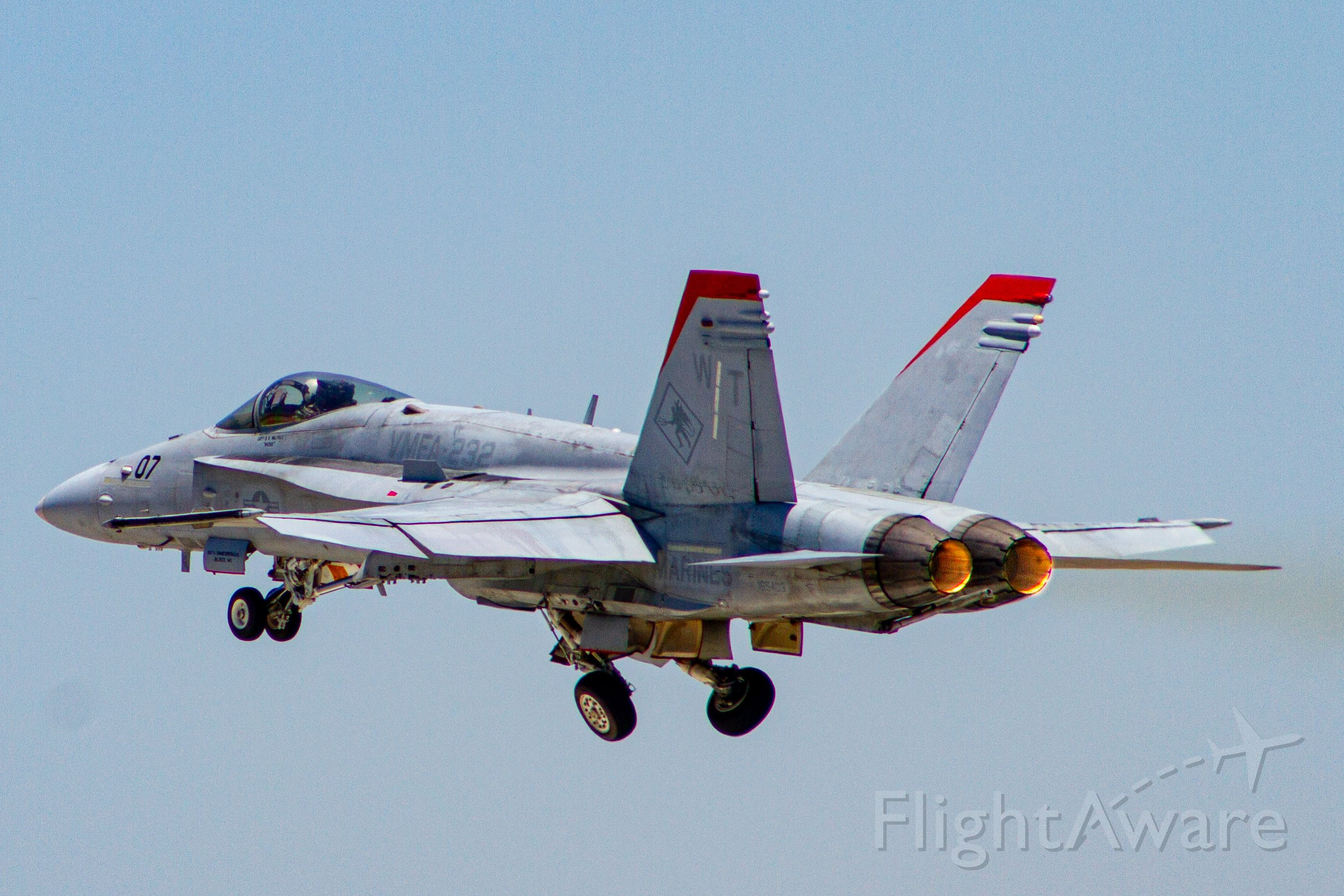 McDonnell Douglas FA-18 Hornet (16-5403) - This is one of two F18s visiting KLGB on 7/11/2020