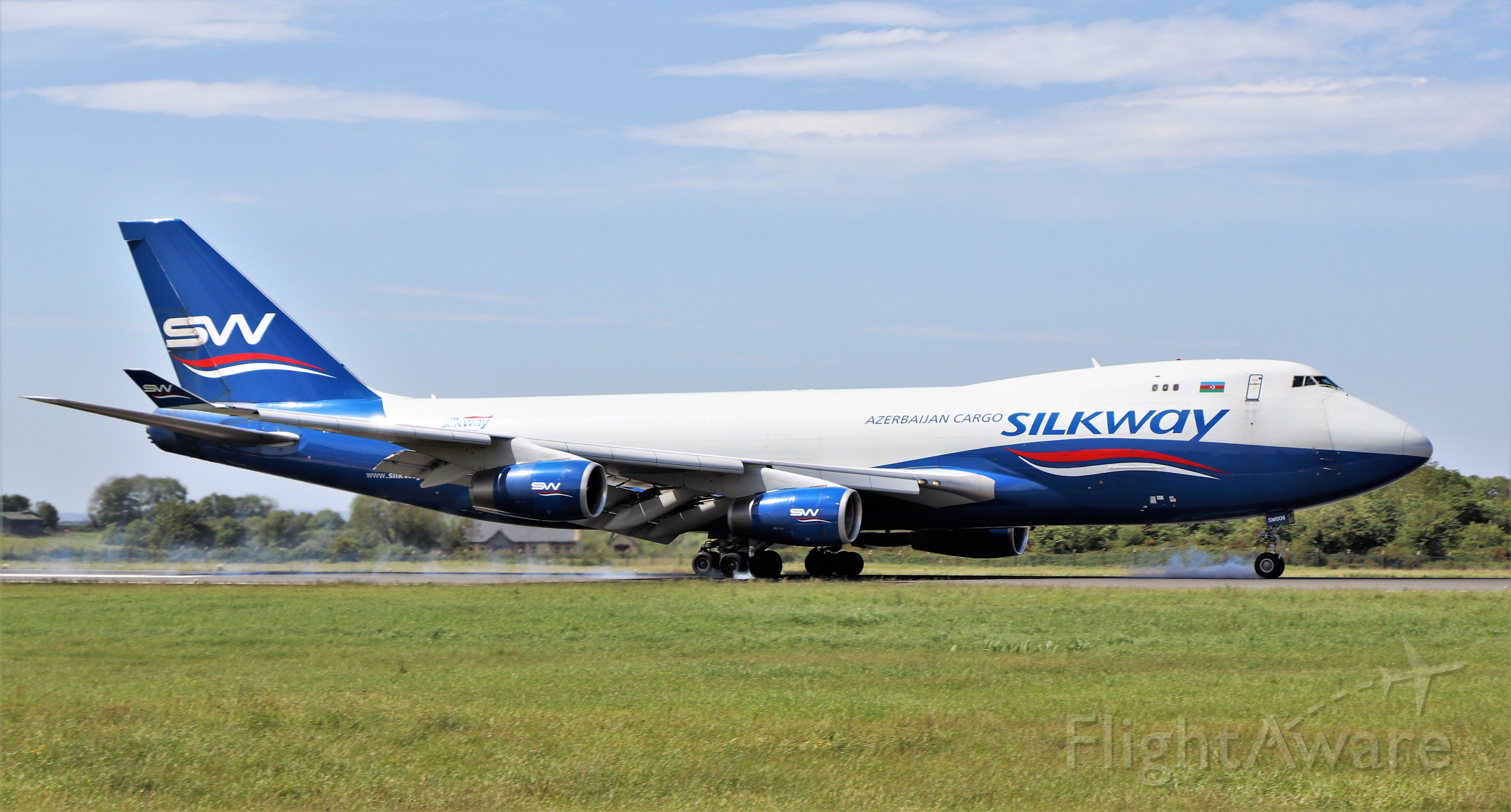 Boeing 747-400 (4KSW008) - silkway west airlines b747-4r7f 4k-sw008 landing at shannon from baku 29/5/20.