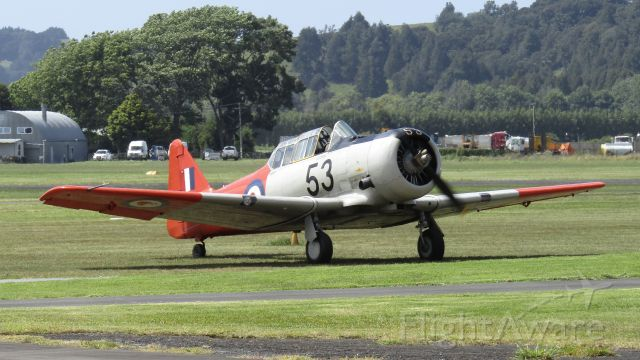 North American T-6 Texan (ZK-JJA) - Landed after a display rehearsal.