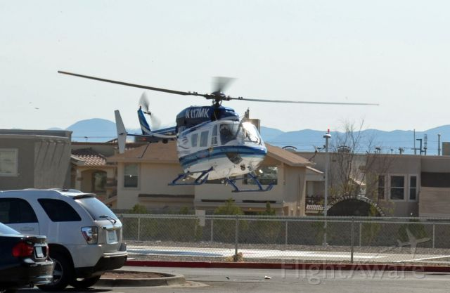 N117MK — - Medevac landing at Sierra Providence Hospital.