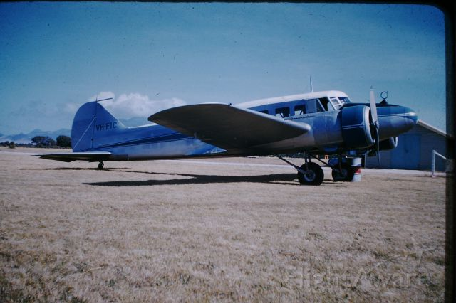 Avro Anson (VH-FIC) - VH-FIC one of 3 Anson,s operated by Flinders Island Airlines, VH-FIA, VH-FIB, VH-FIC, circa 1956