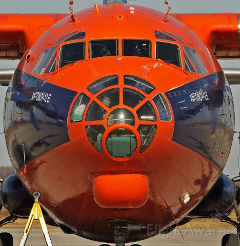 Antonov An-12 (UR-CNN) - Face to Face with the planespotter. Antonov 12B from Cavok Air at Leipzig Airport.