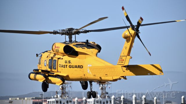 """Sikorsky S-70 (N6029) - MH-60T """"Jayhawk"""" 6029 lifting off from Coast Guard Air Station San Diego"""