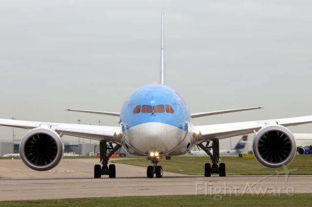Boeing 787-8 (G-TUIF) - Next for departure on 23L.