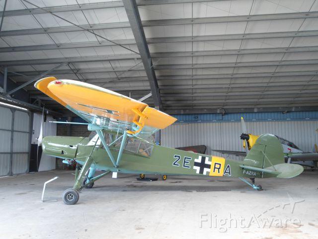 F-AZRA — - A Fieseler Storch 156 at JB Salis Aviation, La Ferté Alais Cerny, near Paris, France