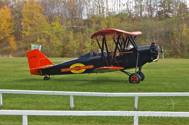 PHILLIPS & POWIS M-11 Whitney Straight (N176H) - White New Standard D-25. Old Rhinebeck Aerodrome 10/17/10.