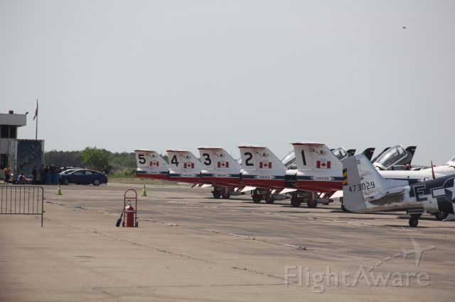 Canadair CL-41 Tutor — - Canadian Snowbirds gearing up for the show