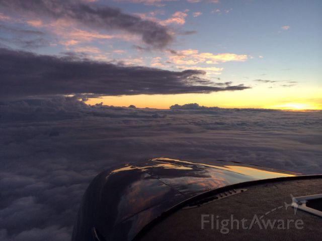 Cessna Skylane (N824RC) - Sunrise over Georgia.