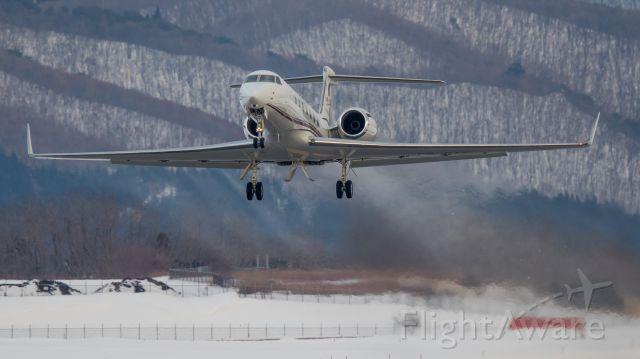 Gulfstream Aerospace Gulfstream V (VP-CTE) - Jet Aviation Business Jets [PP/PJS]<br />Gulfstream Aerospace G550<br />Jan.30.2016 Hakodate Airport [HKD/RJCH] JAPAN