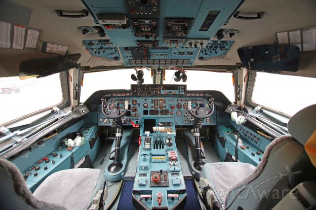 Antonov An-124 Ruslan (RA-82077) - Here is a close-up shot from the flightdeck of VDA4414 heavy after it arrived in Toledo on Thursday afternoon, 18 Mar 2021.