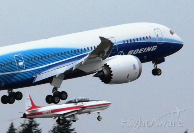 Boeing 787-8 (N787BA) - Uploaded By User Moonm  787 First Flight 12-15-09