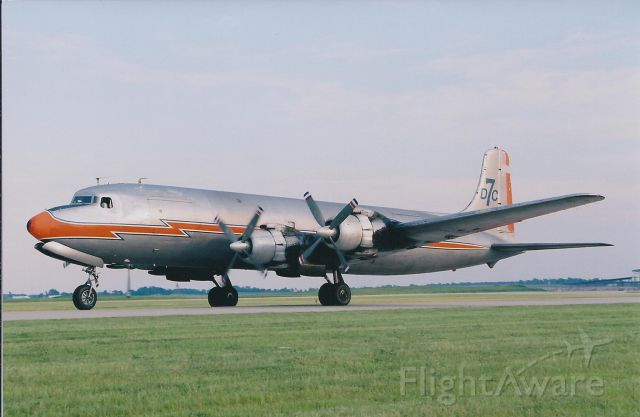 Douglas DC-7 (N381AA) - Welcome to IND Capt. Frank Moss