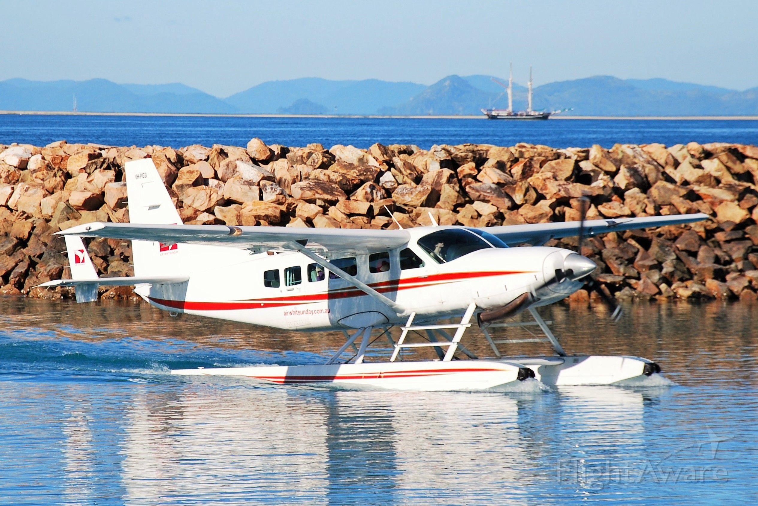 Cessna Caravan (VH-PGB) - Air Whitsundays Cessna 208 Caravan (horrendous name Cessna!) in the marina at Hayman Island, Qld.