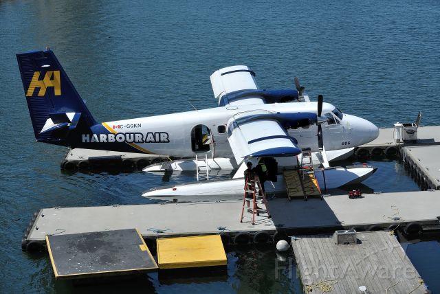 De Havilland Canada Twin Otter (C-GQKN) - Twin Otter with lower cowlings swung open for inspection