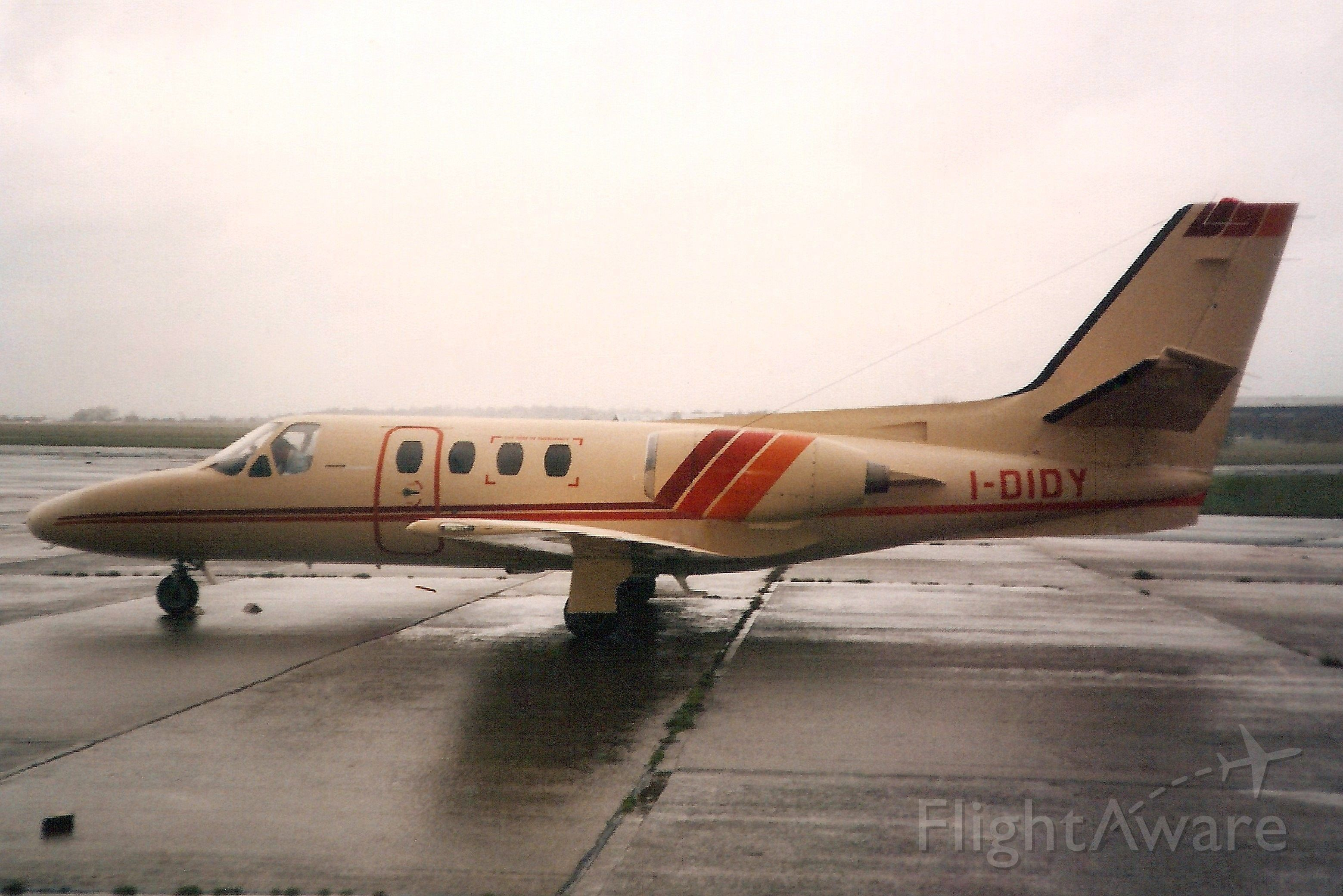 Cessna Citation 1SP (I-DIDY) - Seen here in Nov-89.br /br /Reregistered N249AS in Feb-96,br /then N851BC in Apr-97,br /then XA-OAC in Jun-99,br /then N40MA 6-Jun-01,br /then N117MA 13-Mar-02.