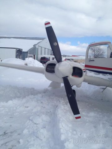 Cessna 310 (N2282F) - Digging out