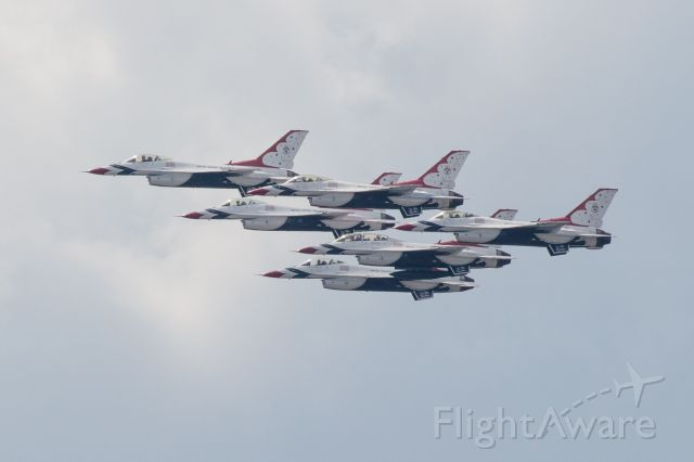 — — - Thunderbirds flyover to salute first responders. This photo was their path southbound over Mopac.