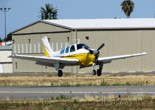 Beechcraft Bonanza (33) (N888HD) - Landing on RWY 6