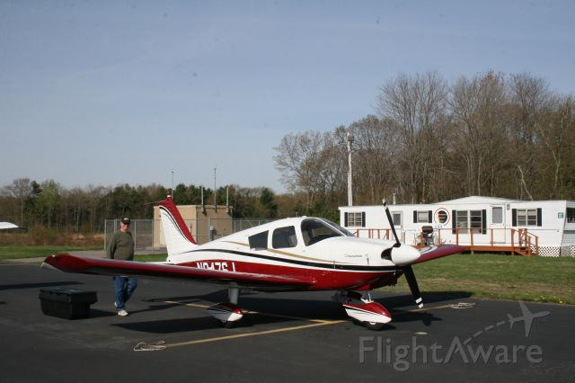Piper Cherokee (N9476J) - At tiedown, but ready to go.  1966 Piper Cherokee 180.