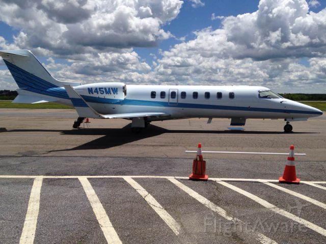 Learjet 45 (N45MW) - N45MW at KHZL