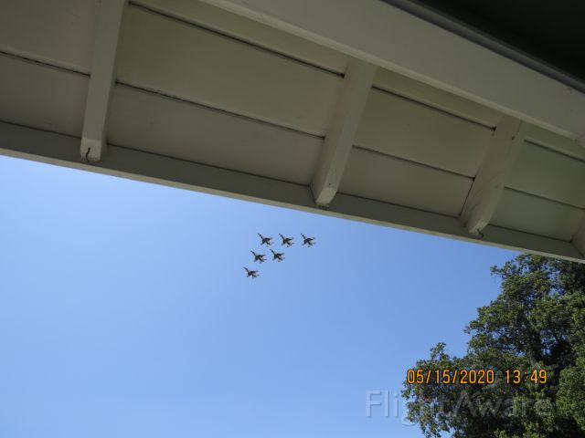 Lockheed F-16 Fighting Falcon (AALF) - Surprise flyover over my house