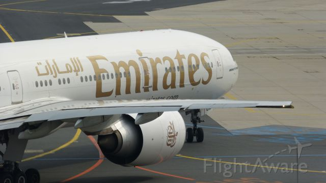 BOEING 777-300 (A6-ECW) - Emirates' B777-300ER A6-ECW taxiing for take-off at FRA