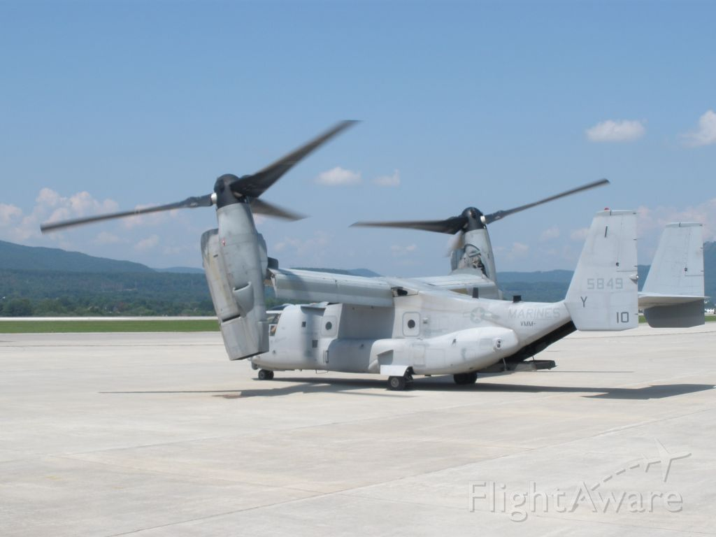 Bell V-22 Osprey (N5849) - After a looong start up process finally a taxi out.Video of the departure on youtube @r123154.