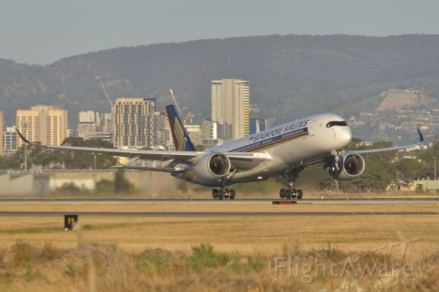 Airbus A350-900 (9V-SHG) - Early evening departure, runway 23