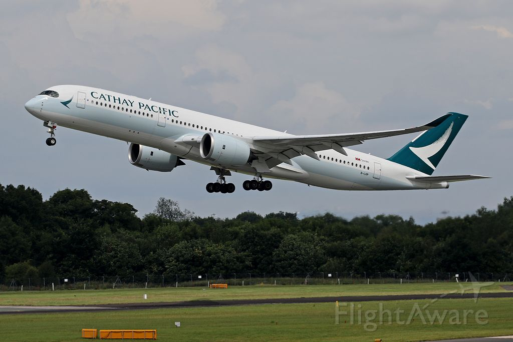 Airbus A350-900 (B-LRP) - One of Cathays newer A350-900s operating CPA358 to Hong Kong, 22 July 2017