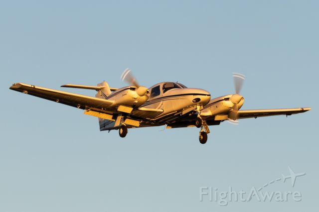 Piper PA-44 Seminole (N571PU) - One of our Seminoles returning right as the sun dips below the horizon.