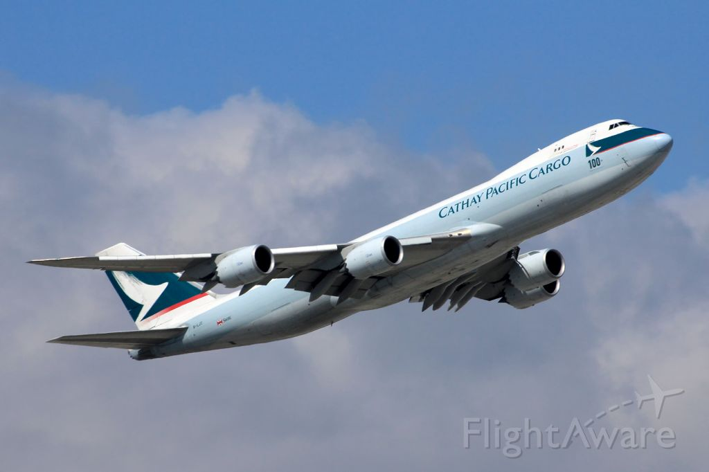 BOEING 747-8 (B-LJC) - The 100th Boeing aircraft for CX