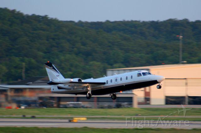 IAI 1124 Westwind (N57BE) - A Westwind II rotates off of runway 7 headed for Gainsville, GA.