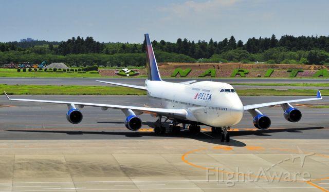 Boeing 747-400 (N673US) - 2014 -Narita no more now...