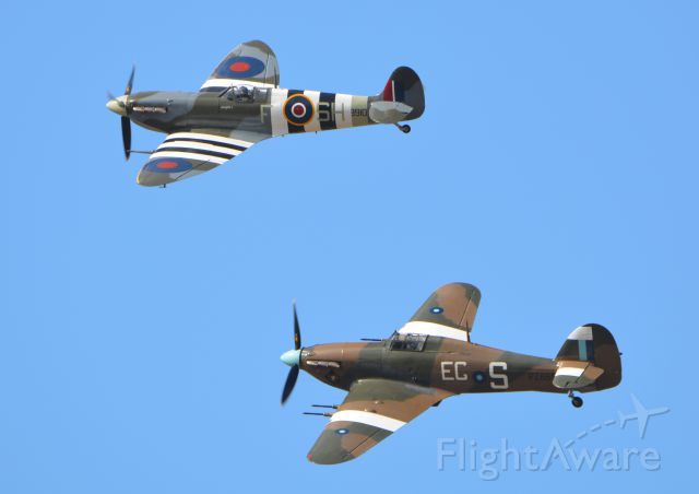 MULTIPLE — - Supermarine Spitfire and Hawker Hurricane at Goodwood on 12 Sep 2015