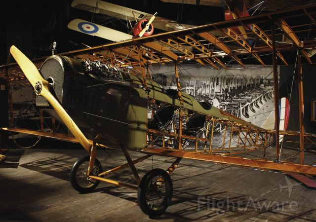 — — - Replica of a Curtiss JN-4D in the Boeing Museum