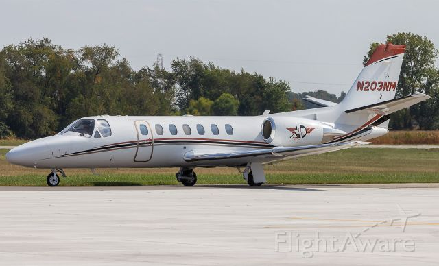 Cessna Citation V (N203NM) - A Cessna Citation Encore gets ready to pull off the taxi way at KPPO. .