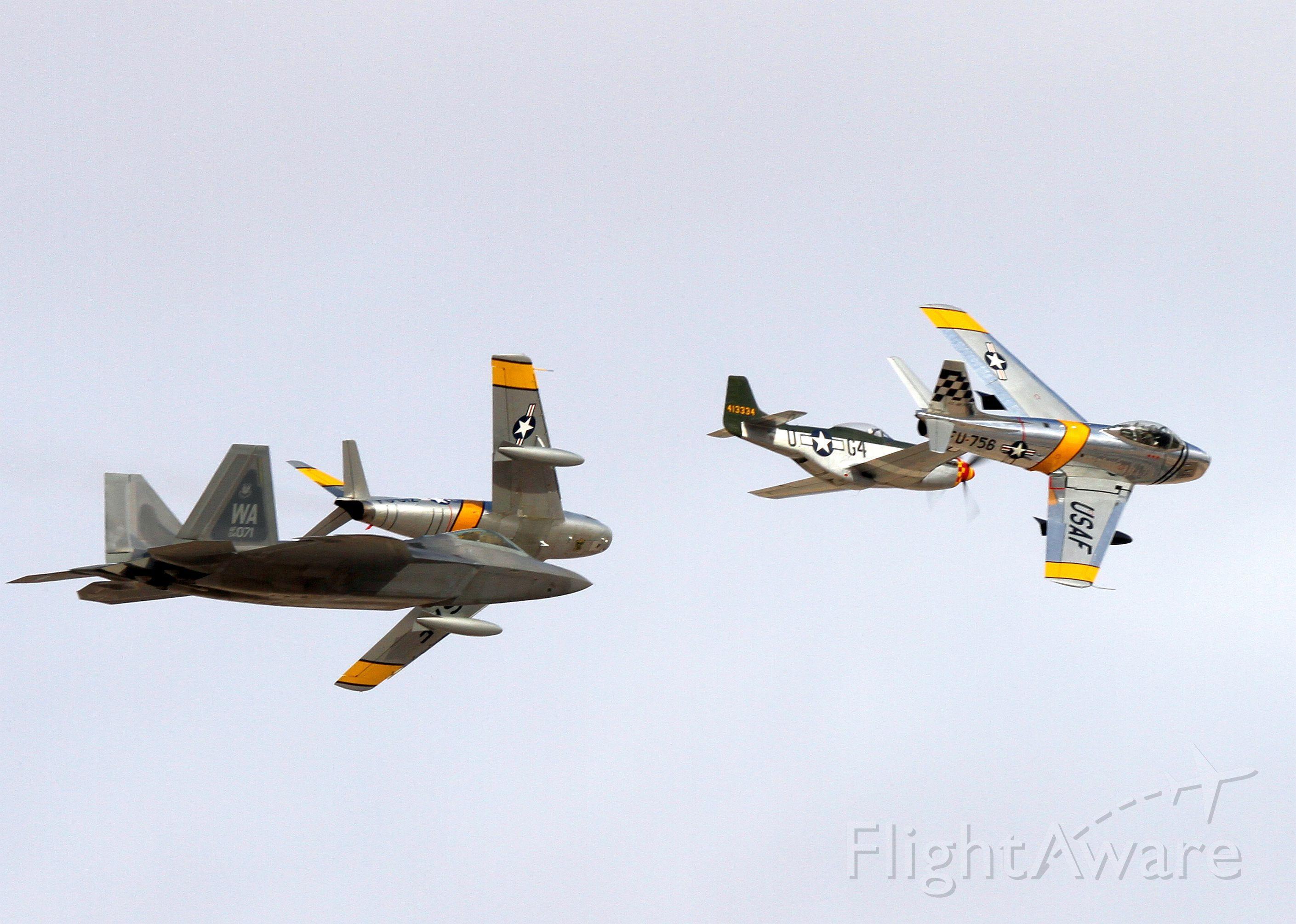 Lockheed F-22 Raptor (04071) - Heritage Flight Aviation Nation 2012