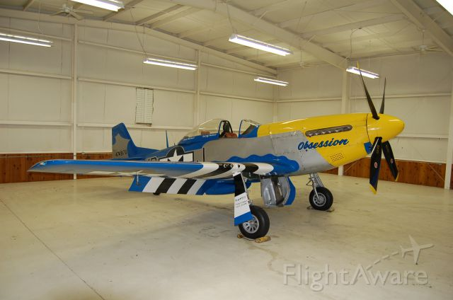 North American P-51 Mustang (N651JM) - in a dry hangar