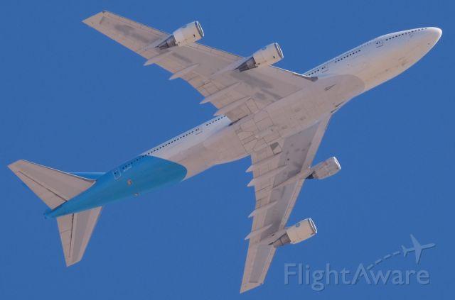 Boeing 747-400 (N747GF) - At 10,000' MSL.  Lone Pine, California, October 28, 2020.