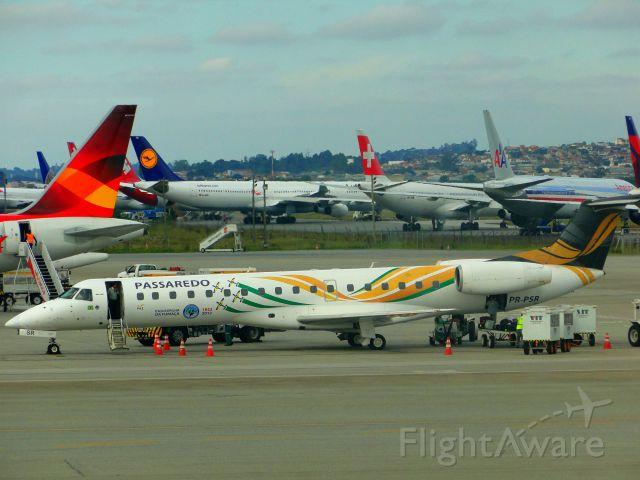Embraer ERJ-145 (PR-PSR) - Embraer EMB-145 of Passaredo Airlines (Brazil) in Guarulhos-SP, Brazil.
