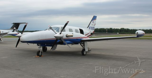 Piper Cheyenne 2 (N781CK) - A Piper PA-31T Cheyenne II on the ramp under overcast skies at Pryor Regional Airport, Decatur, AL - May 15, 2019.